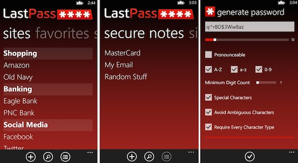 LastPass Launched Free Password Manager for Smartphones